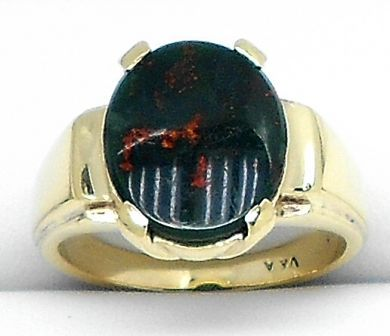 70106-February/Oval Bloodstone Ring Cynthia Findlay Antiques 011113 13