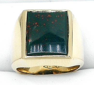 70106-February/Square Bloodstone Ring Cynthia Findlay Antiques 011113 4