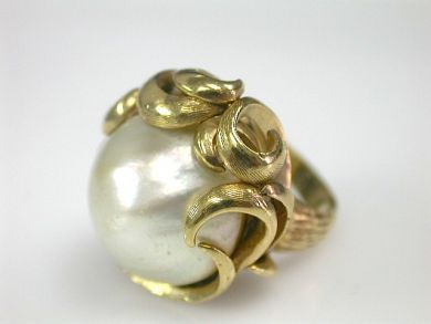 70151-February/Mabe Pearl Ring Cynthia Findlay Antiques CFA130210