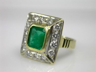 70194-February/Emerald Ring Cynthia Findlay Antiques CFA130283