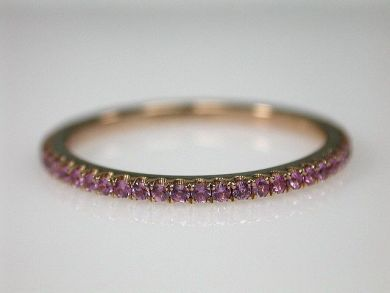 70194-February/Pink Sapphire Band Cynthia Findlay Antiques CFA130131