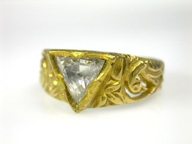 70194-February/Triangular Rose Cut Diamond Ring Cynthia Findlay Antiques CFA130234