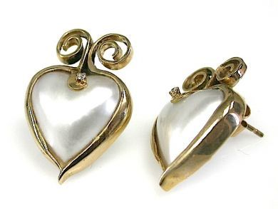 70326-February/Heart Shaped Pearl Earrings Cynthia Findlay Antiques CFA1301223