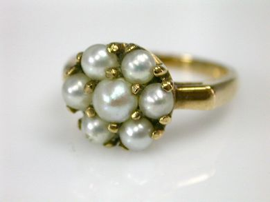 70326-February/Pearl Cluster Ring Cynthia Findlay Antiques CFA1301230
