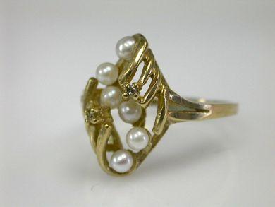70326-February/Pearl Ring Cynthia Findlay Antiques CFA1301216