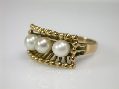 70326-February/Pearl Ring Cynthia Findlay Antiques CFA1301241