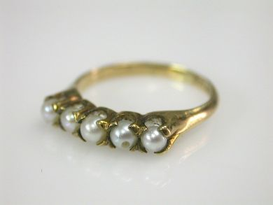 70397-February/Antique Pearl Ring Cynthia Findlay Antiques CFA130227