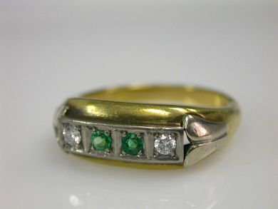 70397-February/Emerald Ring at Cynthia Findlay Antiques CFA130237