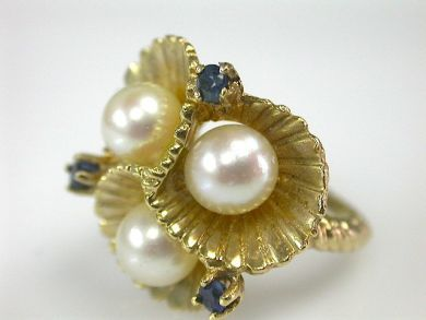 70397-February/Floral Pearl Ring Cynthia Findlay Antiques CFA130214