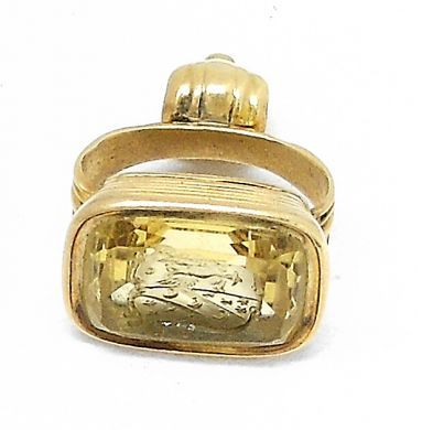 70407-February/Carved Citrine Fob Cynthia Findlay Antiques 012813 7