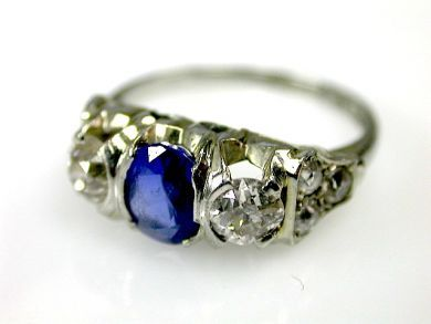70554-February/Sapphire and Diamond Band Cynthia Findlay Antiques CFA1302123