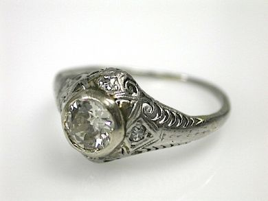 70573-February/Filigree Diamond Ring Cynthia Findlay Antiques CFA1302138