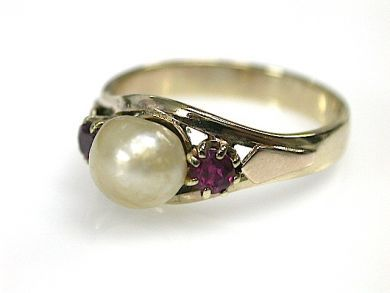 70573-February/Pearl Solitaire Cynthia Findlay Antiques CFA1302140