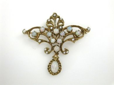 70573-February/Victorian Opal Brooch Cynthia Findlay Antiques CFA1301208