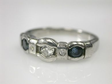70593-February/Diamond and Sapphire Band Cynthia Findlay Antiques CFA1302199