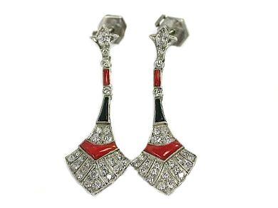70616-February/Art Deco Style Earrings Cynthia Findlay Antiques CFA1302240-70630aa