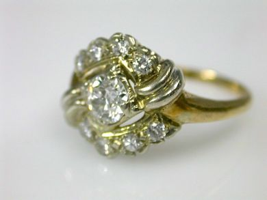 70616-February/Diamond Cluster Ring Cynthia Findlay Antiques CFA1302191