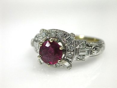 70616-February/Ruby Engagement Ring Cynthia Findlay Antiques CFA1302232