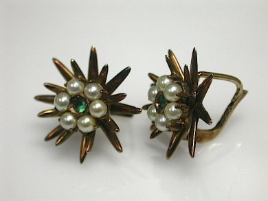 70649-March/Antique Pearl Earrings Cynthia Findlay Antiques CFA1302288