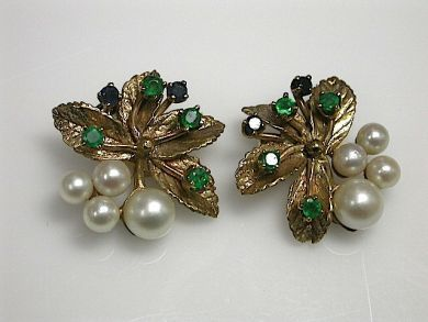 70649-March/Floral Pearl Earrings Cynthia Findlay Antiques CFA1302281
