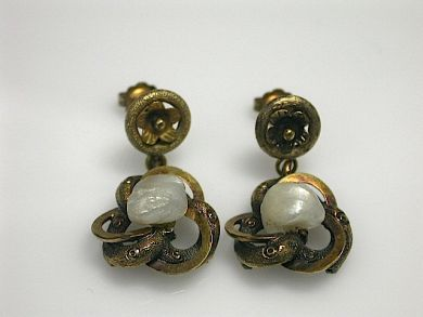 70649-March/Freshwater Pearl Earrings Cynthia Findlay Antiques CFA1302286