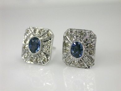 70649-March/Sapphire Studs Cynthia Findlay Antiques CFA130312