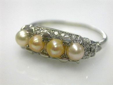 70714-March/Antique Pearl Ring Cynthia Findlay Antiques CFA1303152