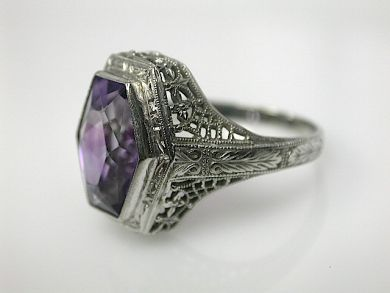 70714-March/Edwardian Amethyst Ring Cynthia Findlay Antiques CFA130377