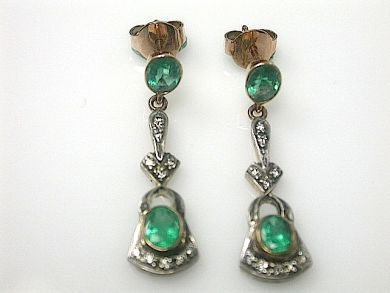 70714-March/Emerald and Diamond Earrings Cynthia Findlay Antiques CFA1303136