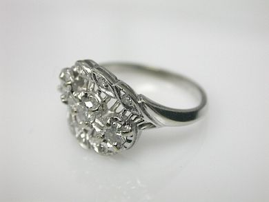 70714-March/Floral Diamond Ring Cynthia Findlay Antiques CFA130375