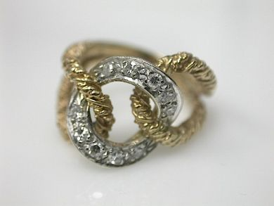 70714-March/Gold Link Ring Cynthia Findlay Antiques CFA1303125