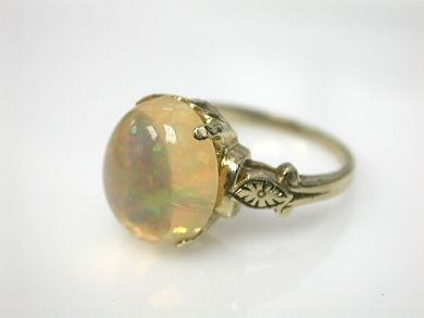 70714-March/Opal Solitaire Cynthia Findlay Antiques CFA130383
