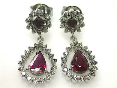 70714-March/Ruby and Diamond Earrings Cynthia Findlay Antiques CFA1303135