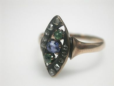 70714-March/Victorian Sapphire Ring Cynthia Findlay Antiques CFA1303150
