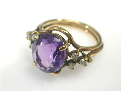 70857-March/Amethyst Solitaire Cynthia Findlay Antiques CFA1303168