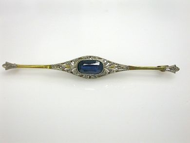 70857-March/Antique Sapphire Brooch Cynthia Findlay Antiques CFA130393