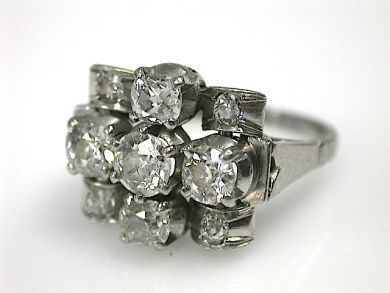 70857-March/Art Deco Diamond Ring CFA1302142 70823