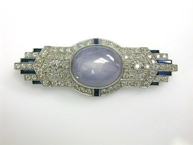 70857-March/Art Deco Star Sapphire Cynthia Findlay Antiques CFA1303103