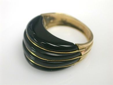 70857-March/Black Onyx Ring Cynthia Findlay Antiues CFA1303170