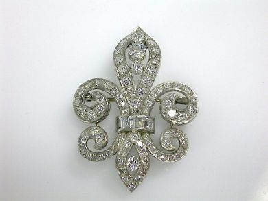 70857-March/Diamond Fleur De Lis Cynthia Findlay Antiques CFA130395