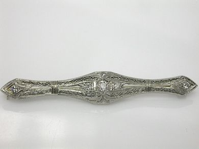 70857-March/Filigree Bar Brooch Cynthia Findlay Antiques CFA1303122