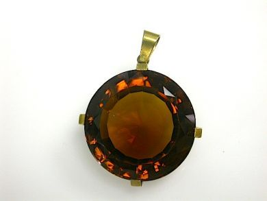 70857-March/Large Citrine Pendant Cynthia Findlay Antiques CFA1303102
