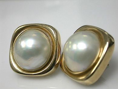70857-March/Pearl Earrings Clips Cynthia Findlay Antiques CFA1303131