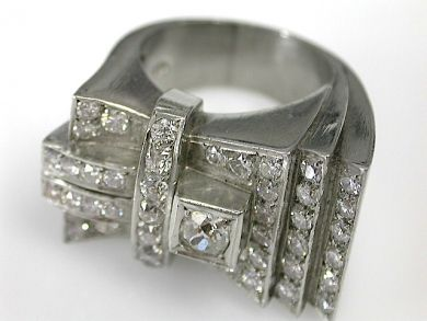 70857-March/Retro Diamond Ring Cynthia Findlay Antiques CFA1303246