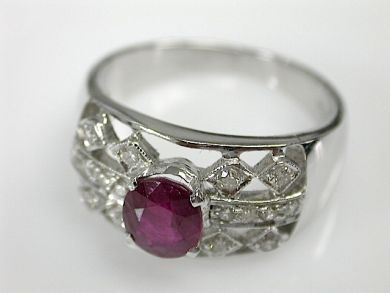 70857-March/Ruby and Diamond Ring Cynthia Findlay Antiques CFA1303238