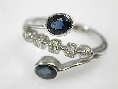 70857-March/Sapphire and Diamond Ring Cynthia Findlay Antiques CFA1303243C