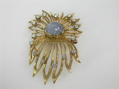 70857-March/Star Sapphire Brooch Cynthia Findlay Antiques CFA1303207