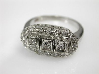 70857-March/Vintage Engagement Ring Cynthia Findlay Antiques CFA1303198