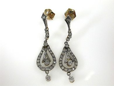 70876-March/Diamond Drop Earrings Cynthia Findlay Antiues CFA1303252