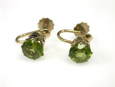 70887-March/Peridot Earrings Cynthia Findlay Antiques CFA1303292